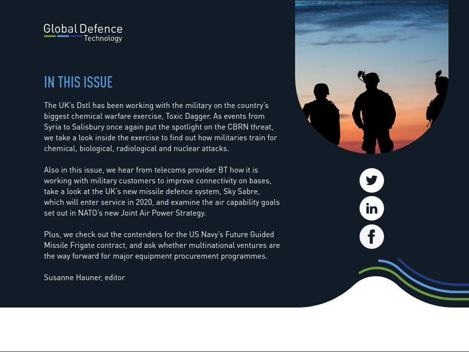 In this issue - Global Defence Technology | Issue 86 | April 2018