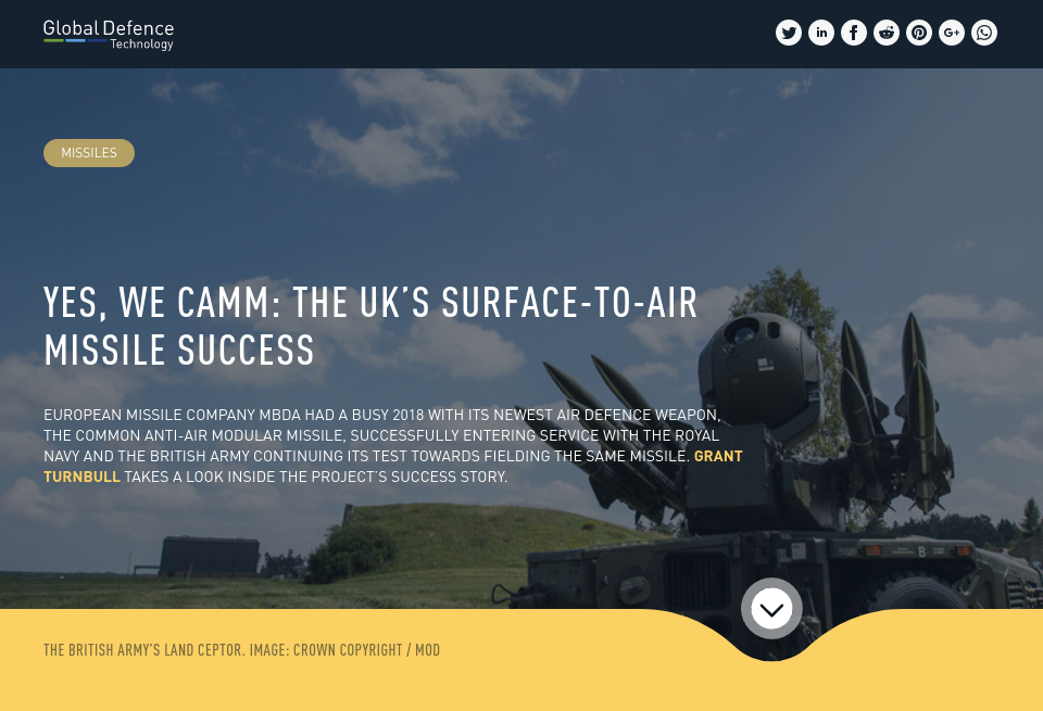 Yes, we CAMM: the UK's surface-to-air missile success