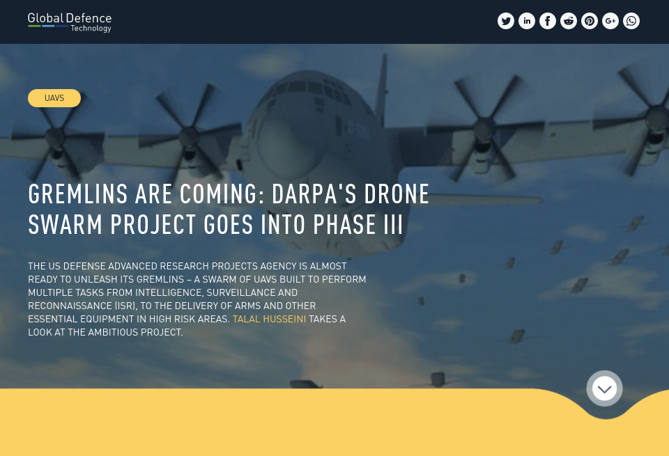 Gremlins are coming: DARPA's drone swarm project goes into